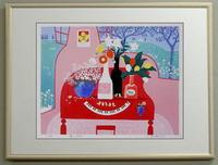 版画335 赤いピアノ 吉岡浩太郎