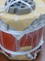 火王火種コンロ C-16 外寸φ320×H400 穴あき蓋付おまけ、備長炭500グラム付