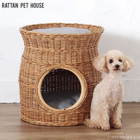 rw133】 ラタン ペットハウス『 ラタン ペットハウス』 室内 オシャレ 籐 猫