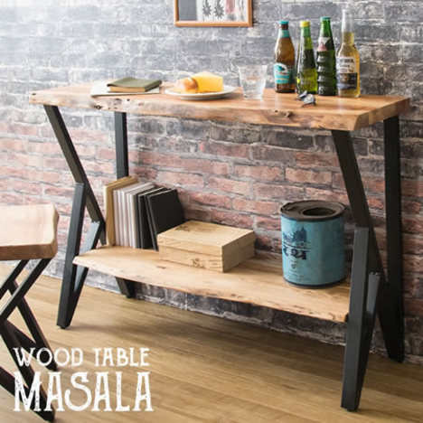 yka4318】 【※代引不可】 テーブル カウンター『テーブル MASALA』 コンパクト コンソール デスク 机