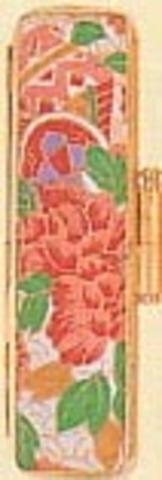 ローケツ染等デザイン印鑑はんこケース 金色枠牛革(12~15mm)
