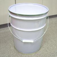 20L鉄製オープンペール缶(蓋・外レバーバンド付)
