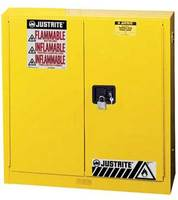 耐火セーフティキャビネット 114リットル セルフクローズタイプ/黄色 am83p