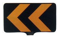 サインボード(黒地/黄矢印反射)ドラムジョイント付き sk21p