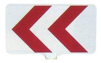 サインボード(白地/赤矢印反射)ドラムジョイント付き sk19p