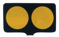 サインボード(分離帯標識:黒地/黄色高輝度反射)ドラムジョイント付き sk18p