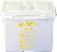 【代引き不可】70リットル プラスチック製メディカルペール缶K#70(フタ付きセット) sk12p