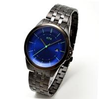 【KTX ケーティーエックス】バブルスーパースリム KX101-09 / 腕時計(アナログ・クォーツ・青、ブルー文字盤)