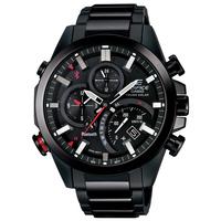 エディフィス EDIFICE カシオ CASIO メンズ 腕時計 Bluetooth モバイルリンク タフソーラー デュアルダイアルワールドタイム ブラック EQB-500DC-1AJF