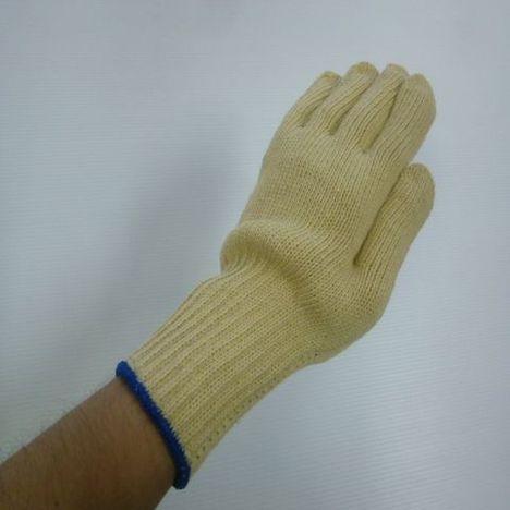 ロングアラミド軍手 再生アラミド3本編長軍手約840g(10双)耐切創性・耐熱性に優れ手首を保護する手袋 ケブラー手袋