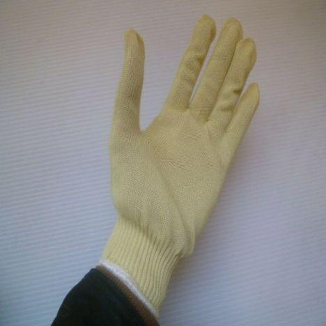 アラミド13G軍手 アラミド13ゲージ薄軍手(10双) 耐切創性・耐熱性に優れた手袋 ケブラー手袋