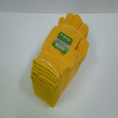【ナイロン軍手】黄ナイロン軍手(60ダース)・様々な用途に使用可能な黄色軍手2本編約580g