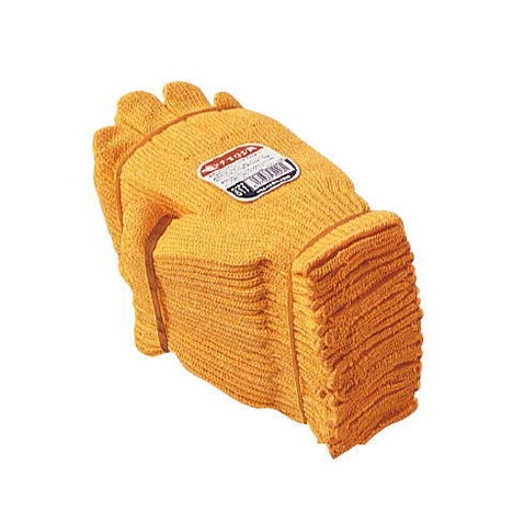 おたふく手袋 611黄ナイロン(10ダース)・様々な用途に使用可能な国産の黄色軍手2本編約580g ナイロン軍手