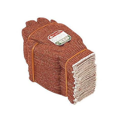 おたふく手袋 614茶ナイロン(10ダース)・様々な用途に使用可能な国産の茶色軍手2本編約580g ナイロン軍手