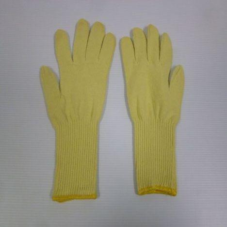 ロングアラミド軍手 アラミドH100長軍手(10双) 耐切創性・耐熱性に優れ手首を保護する手袋 ケブラー手袋