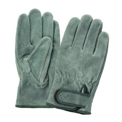 富士グローブ OIL33オイル床皮マジック付手袋(10双)・お買い得な洗える皮手袋です!