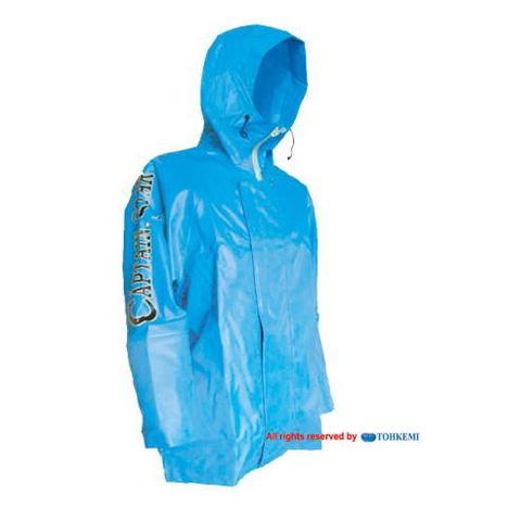 【トオケミ】182キャプテンスターレインパーカ(M~3L)・強力防水機能でマリン(水産用)に最適です!耐油&耐寒素材を使用!【雨合羽】