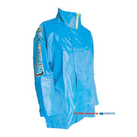【トオケミ】185キャプテンスターレインジャケット(M~3L)・強力防水機能でマリン(水産用)に最適です!耐油&耐寒素材を使用!【雨合羽】