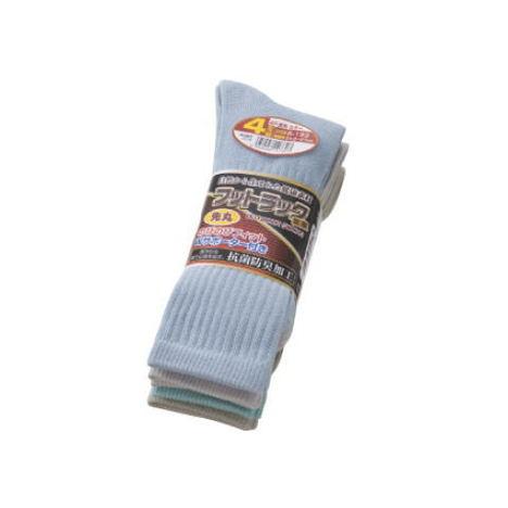 【富士グローブ】S-133 のびのびフットラック足楽先丸カラー靴下4足組×10セット(40足分)・抗菌防臭加工です!【サイズ24.5cm~27cm】