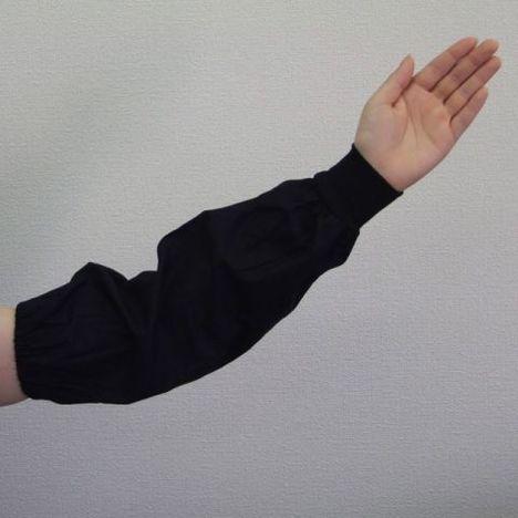 腕カバー 黒 ジャージ1双入 (120双) 作業 事務 使い捨て アームカバー 腕ぬき まとめ買い 激安 最安 大量購入