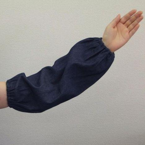 デニム腕カバー 両ゴム1双入 (120双) 作業 事務 使い捨て デニム腕抜き まとめ買い 激安 最安 大量購入