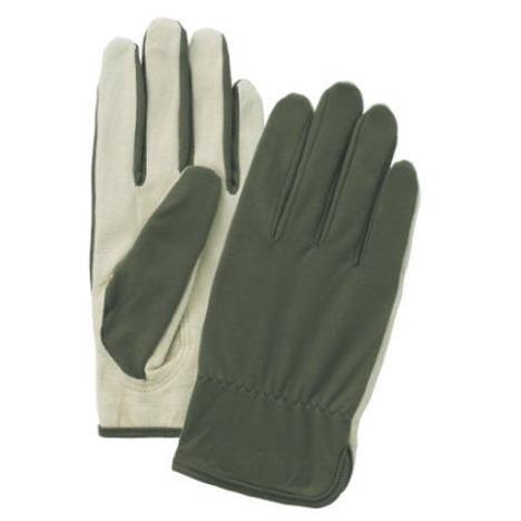 ピッギーライナー (1ダース) グリーン 豚皮ナイロン精密作業用手袋 富士グローブ
