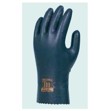 ダイローブ300(10双) 耐溶剤用手袋 静電気対策用手袋 ポリウレタン製 裏地付 滑り止め粒子付 静電手袋 ダイヤゴム