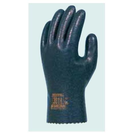 ダイローブ301H(10双) 耐溶剤用手袋 防寒静電気対策用手袋 ポリウレタン製 裏地付 滑り止め粒子付 静電手袋 ダイヤゴム