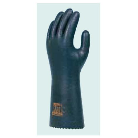 ダイローブ330(10双) 耐溶剤用手袋 静電気対策用手袋 ポリウレタン製 裏地付 滑り止め粒子付 ロングタイプ(長さ33cm) 静電手袋 ダイヤゴム
