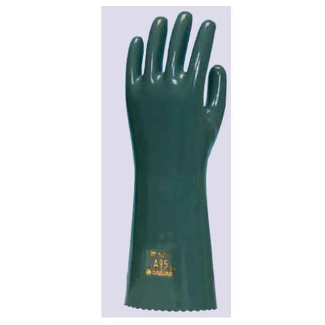 ダイローブA95(10双) 耐酸性手袋 耐アルカリ手袋 CSM製 化織裏地付 ダイヤゴム