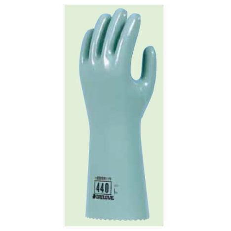ダイローブ440(10双) 耐溶剤用手袋 ポリウレタン製 裏地付 ロングタイプ ダイヤゴム