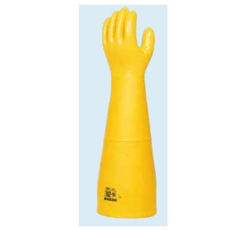 ダイローブ102-55(1双) 防寒用手袋 ポリウレタン製 裏地付 ロングタイプ(長さ55cm) 滑り止め粒子付 ダイヤゴム