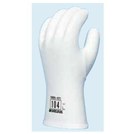 ダイローブ104(10双) 防寒用手袋 ポリウレタン製 裏地付 滑り止めシワ加工 インナー脱着タイプ CEマーキング ダイヤゴム