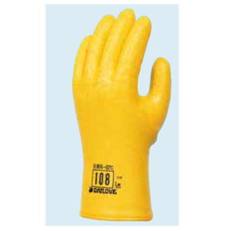 ダイローブ108(10双) 防寒用手袋 ポリウレタン製 裏地付 滑り止めシワ加工 ダイヤゴム