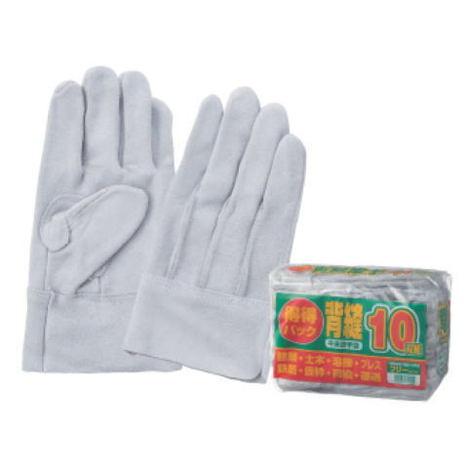 富士グローブ 得得パック 床皮背縫手袋10双入12袋(120双) 価格と品質を両立させた床皮背縫手袋です。