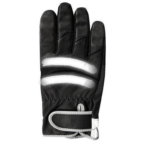 反射材付警察手袋 ポリスグローブ PROHANDS CBF-103 国産牛皮仕様の手の平&指先補強手袋 プロハンズ
