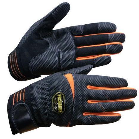 消防手袋 人工皮革グローブ  PROHANDS JP-607 高耐久性&抜群のフィット感を実現 指先&手の平に補強アテ付き 曲げやすい手袋 プロハンズ