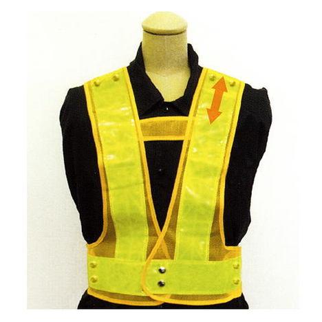 富士手袋工業 3160 2WAYサイズ安全ベスト(10枚セット) テープ幅6cm お買い得な安全ベストです! 反射チョッキ