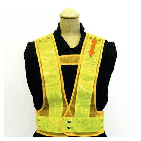 富士手袋工業 8181 2WAYサイズ安全ベスト(50枚セット) テープ幅7cm お買い得な安全ベストです! 反射チョッキ