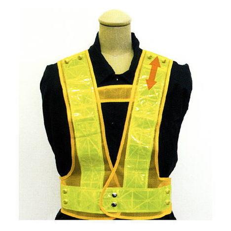 富士手袋工業 8182 2WAYサイズ安全ベスト(50枚セット) テープ幅7cm お買い得な安全ベストです! 反射チョッキ