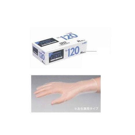 【リーブル】No.120 ビニールノンパウダー100枚入×20箱(2000枚)・クリーン作業に適した粉なしタイプです。・耐油性、耐薬品性に優れています。