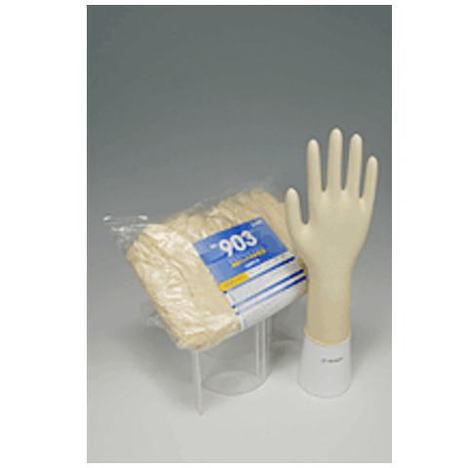 【リーブル】No.903 繊細タッチ手袋100枚入×10袋(1000枚)・30cmのロングタイプです。・特殊な滑り止め加工を施し、接触物に対して手袋からの転写を防ぎます。
