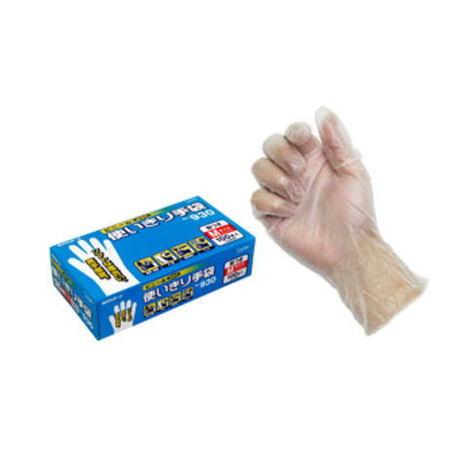エステー No.930 ビニール使いきり手袋(粉付)100枚入×12箱(1200枚)・手によくなじみ、素手の感触が生かせる極薄手袋です。