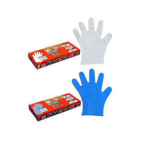 エステー No.940 ポリエチレン使いきり手袋100枚入×24箱(2400枚)・食品衛生法適合・細かな内側表面のエンボス加工でベタツキ、スベリを防ぎます。