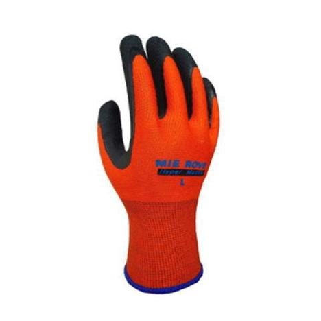 【三重化学工業】ハイパーマッスル(10双)・ゴム背抜き手袋・ソフト感と吸水性、優しい肌触り、手のズレや滑りが減少し作業性がアップ。【ミエローブ】