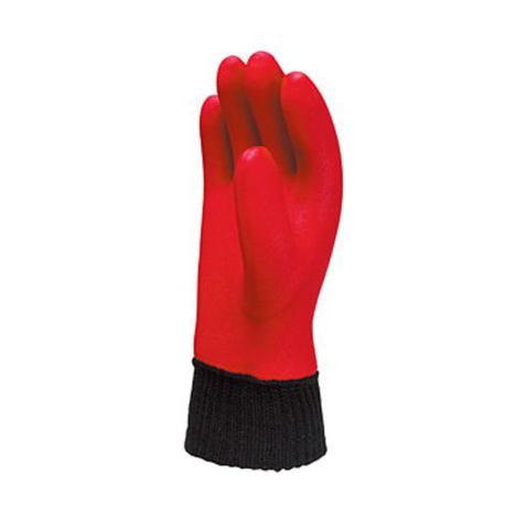 【三重化学工業】ジャージホット(10双)・二重防寒ビニール手袋・インナー手袋一体型タイプ・インナー手袋はウレタンの軽さと優れた保温性・上質なアクリルジャージの袖口は作業性抜群。【ミエローブ】