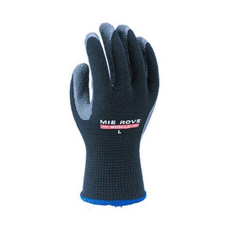 【三重化学工業】マッスル(10双)・ゴム背抜き手袋・柔らかくスベリにくいゴム特殊コーティングで吸汗性と優しい肌触りを実現。【ミエローブ】