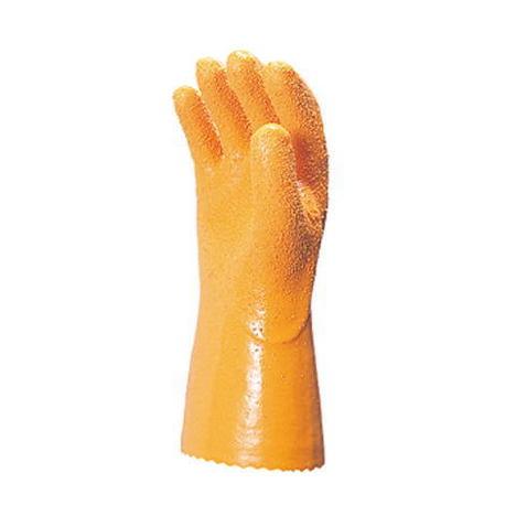 【三重化学工業】No.100(10双)・ビニール手袋・特殊粗粒子配合で、抜群の強さとスベリ止め効果。【ミエローブ】