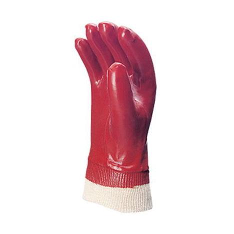 【三重化学工業】No.200 茶(10双)・ビニール手袋・袖口ジャージ付タイプで、多様な用途に対応します。【ミエローブ】