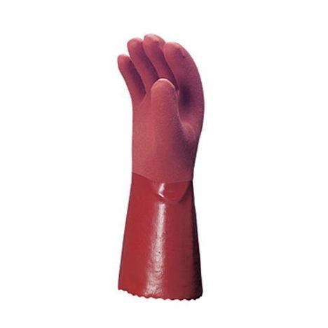 【三重化学工業】No.300(10双)・ビニール手袋・強くてハード作業に最適スベリ止め付、セミロングタイプ。【ミエローブ】